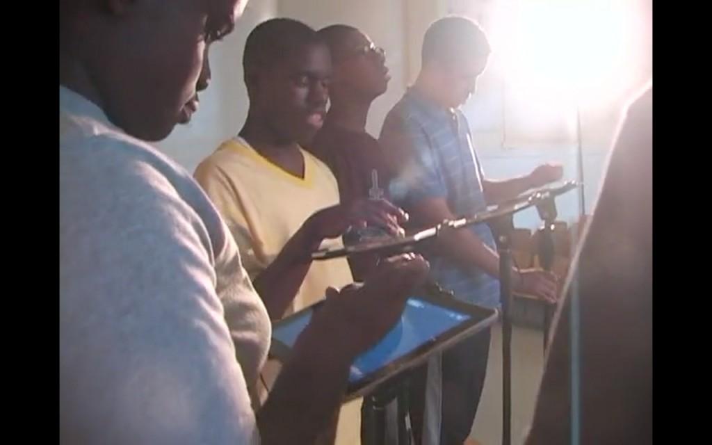 Die PS 177 Technology Band bei der Probe. Screenshot aus einem