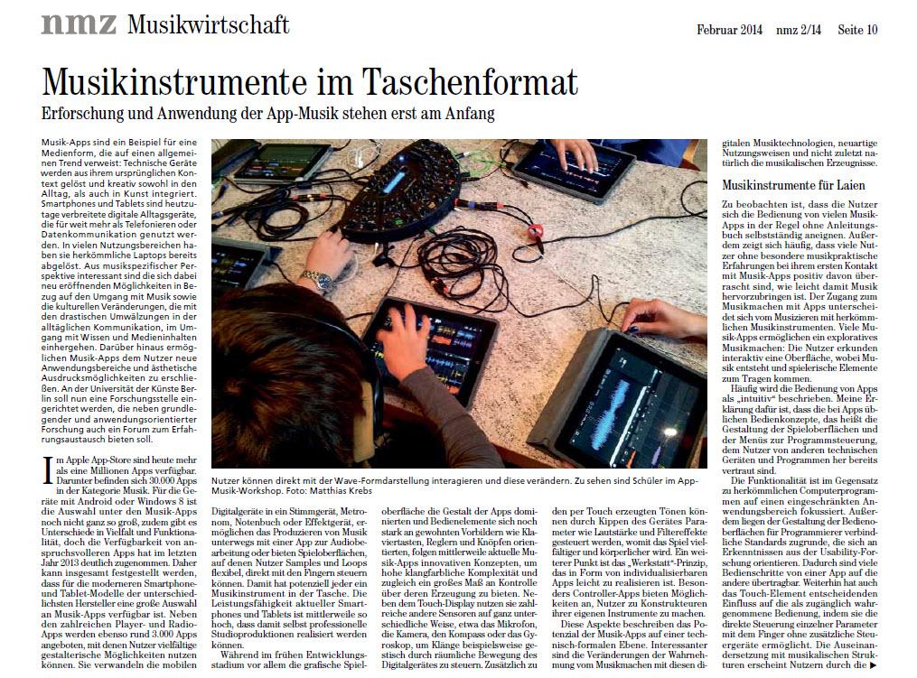 Appmusik_Musikinstrumente im Taschenformat
