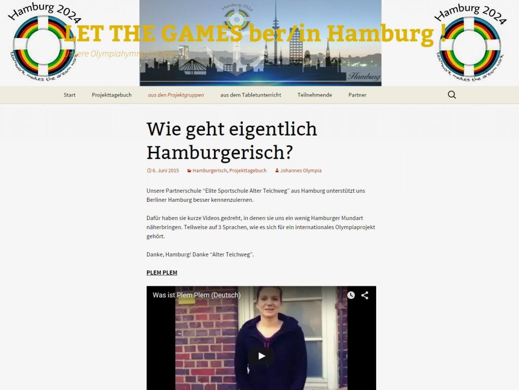 Unser Projektblog unter www.olympiahymne.de