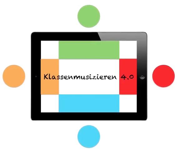 Logo der Videoreihe Klassenmusizieren 4.0 // Screenshot: Marc Godau