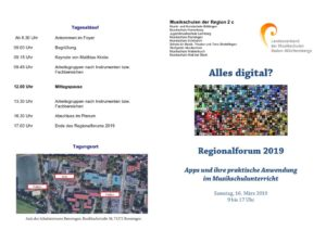 thumbnail of Flyer Regionalforum Musikschulunterricht mit Apps 2019