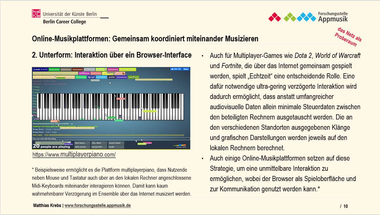 Online-Musikplattformen_Musizieren Interaktion Browser-Datenübertragung