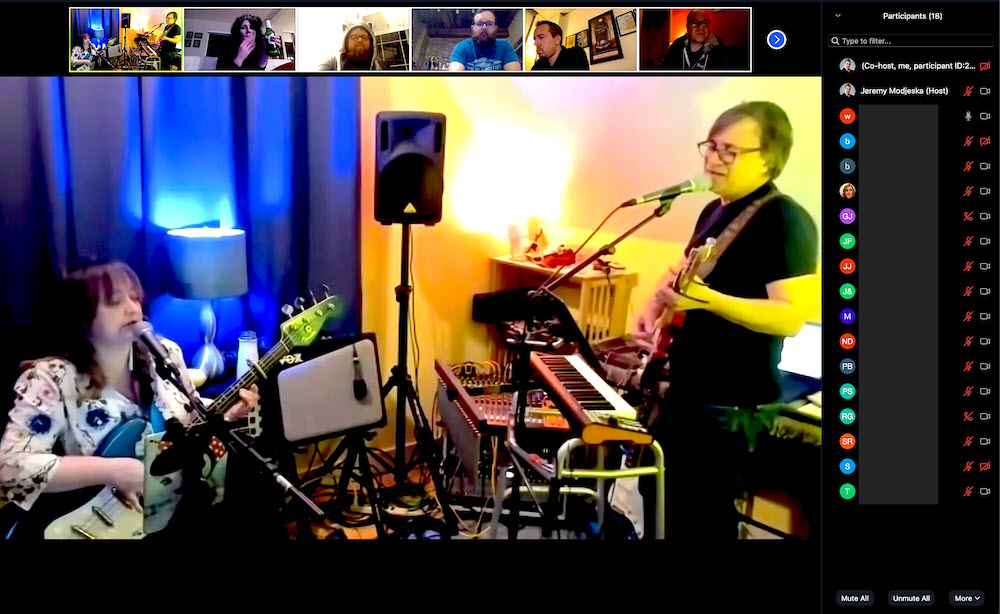 live music via Zoom